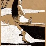 """Projet de livre illustré: autour de l'île Tahiti. """"Le temps en suspend""""."""