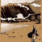 "Projet de livre illustré: autour de l'île Tahiti. ""Tahaaru""."