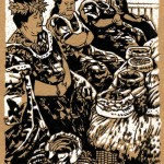 """Projet de livre illustré: autour de l'île Tahiti. """"Les Mamas de faa""""."""