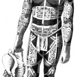 "Te Patu Tiki. ""Modèle de Kahi, homme de face""."