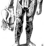 """Te Patu Tiki. """"Modèle de Kahi, homme de face"""". Détail 2."""