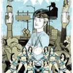 Affiche Asher Roth - Rock en Seine 2009, (70 x 100 cm).