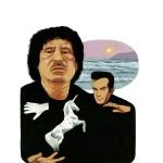 """""""Khadafi et Coperfield."""" Série Abrakhadafi - Impression jet d'encre 30x40 cm © Olivier & Patrice Cablat 2009."""