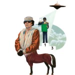 """""""Khadafi et Jackson."""" Série Abrakhadafi - Impression jet d'encre 30x40 cm © Olivier & Patrice Cablat 2009."""