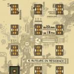Affiche de l'exposition Processus. La maison des auteurs, Angoulême, 2002.