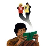 """Khadafi et Valderama."" Série Abrakhadafi - Impression jet d'encre 30x40 cm © Olivier & Patrice Cablat 2009."
