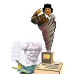 """Khadafi et Wharol."" Série Abrakhadafi - Impression jet d'encre 30x40 cm © Olivier & Patrice Cablat 2009."
