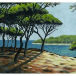 """""""La Provence de Cécilia"""" acrylique sur papier, 2010."""