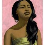 """""""Le Cambodge de Peggy"""" Acrylique sur papier, 2005."""