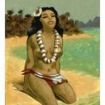"""""""Le Tahiti de Régine"""" Acrylique sur papier, 2004."""